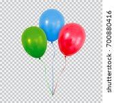 red helium balloon. birthday... | Shutterstock .eps vector #700880416