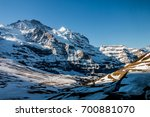 landscape of snow capped... | Shutterstock . vector #700881070