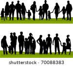 collection of family silhouettes | Shutterstock .eps vector #70088383