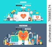 flat concept web banner of... | Shutterstock .eps vector #700885174