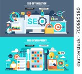 flat concept web banner of...