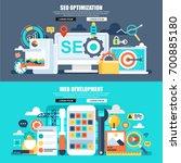 flat concept web banner of... | Shutterstock .eps vector #700885180