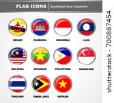 flag icons vector   southeast... | Shutterstock .eps vector #700887454