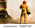 firefighters in action ... | Shutterstock . vector #700887910