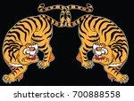 tiger sticker tattoo design...   Shutterstock .eps vector #700888558