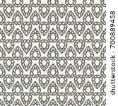 seamless pattern with gemstones ... | Shutterstock . vector #700889458