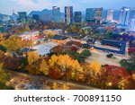 night landscape deoksugung... | Shutterstock . vector #700891150