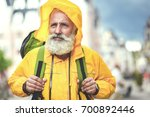 Thoughtful Old Man Traveling I...