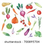 set made of hand drawn... | Shutterstock . vector #700895704