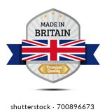 made in britain  british flag... | Shutterstock .eps vector #700896673