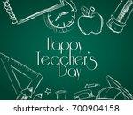 Happy Teacher's Day. School...