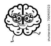 brain storm kawaii character | Shutterstock .eps vector #700905523