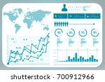 2d rendering stock market... | Shutterstock . vector #700912966