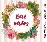 succulents. tolstyanka.... | Shutterstock .eps vector #700915330