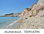 colorful cliffs and shoreline... | Shutterstock . vector #700916590