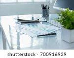 the abstract office desktop | Shutterstock . vector #700916929