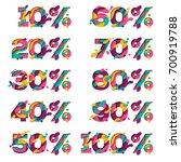 set of paper cut sale percent...   Shutterstock .eps vector #700919788