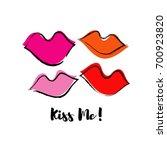 femme fatale lips illustration. ... | Shutterstock .eps vector #700923820