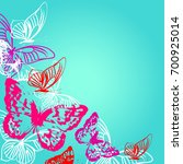 beautiful color butterflies  on ... | Shutterstock .eps vector #700925014