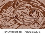 melted chocolate swirl with... | Shutterstock . vector #700936378