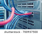 network cable panel  switch and ... | Shutterstock . vector #700937500