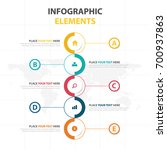 business infographic timeline... | Shutterstock .eps vector #700937863