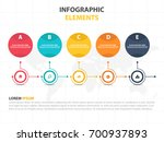 business infographic timeline... | Shutterstock .eps vector #700937893
