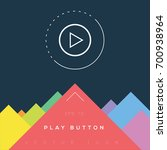 play button icon design on...   Shutterstock .eps vector #700938964