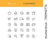 e commerce and online shopping... | Shutterstock .eps vector #700940776