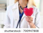 female medicine doctor hands... | Shutterstock . vector #700947808