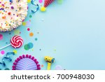 colorful birthday party... | Shutterstock . vector #700948030