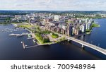 top view of beautiful city... | Shutterstock . vector #700948984