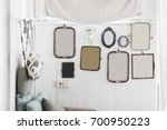 white wall with a lot of...   Shutterstock . vector #700950223