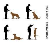 Stock vector dog training 70095451