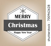 christmas labels and badges... | Shutterstock .eps vector #700962628