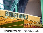 sign of borough market on the...   Shutterstock . vector #700968268