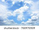 blue sky with cloud in summer   ... | Shutterstock . vector #700970509