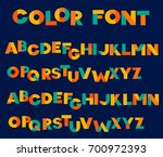 vector color alphabet isolated... | Shutterstock .eps vector #700972393