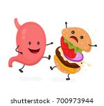 happy smile strong stomach kick ... | Shutterstock .eps vector #700973944