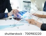 organisation structure. people... | Shutterstock . vector #700983220