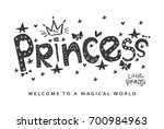 princess typography cute... | Shutterstock .eps vector #700984963