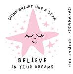 believe in your dreams cute... | Shutterstock .eps vector #700986760