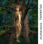 fantasy creature in the wood  ... | Shutterstock . vector #700989760