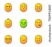 smiles color icons set.... | Shutterstock .eps vector #700991800