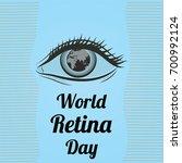 world retina day  september.... | Shutterstock .eps vector #700992124