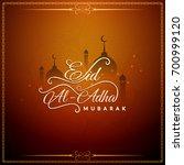 abstract stylish eid al adha... | Shutterstock .eps vector #700999120