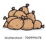 pile of brown sacks   cartoon... | Shutterstock .eps vector #700999678