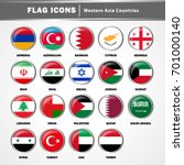 flag icons vector   western...