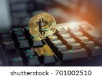 cryptocurrency physical bitcoin ... | Shutterstock . vector #701002510