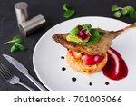 exclusive restaurant meals.... | Shutterstock . vector #701005066